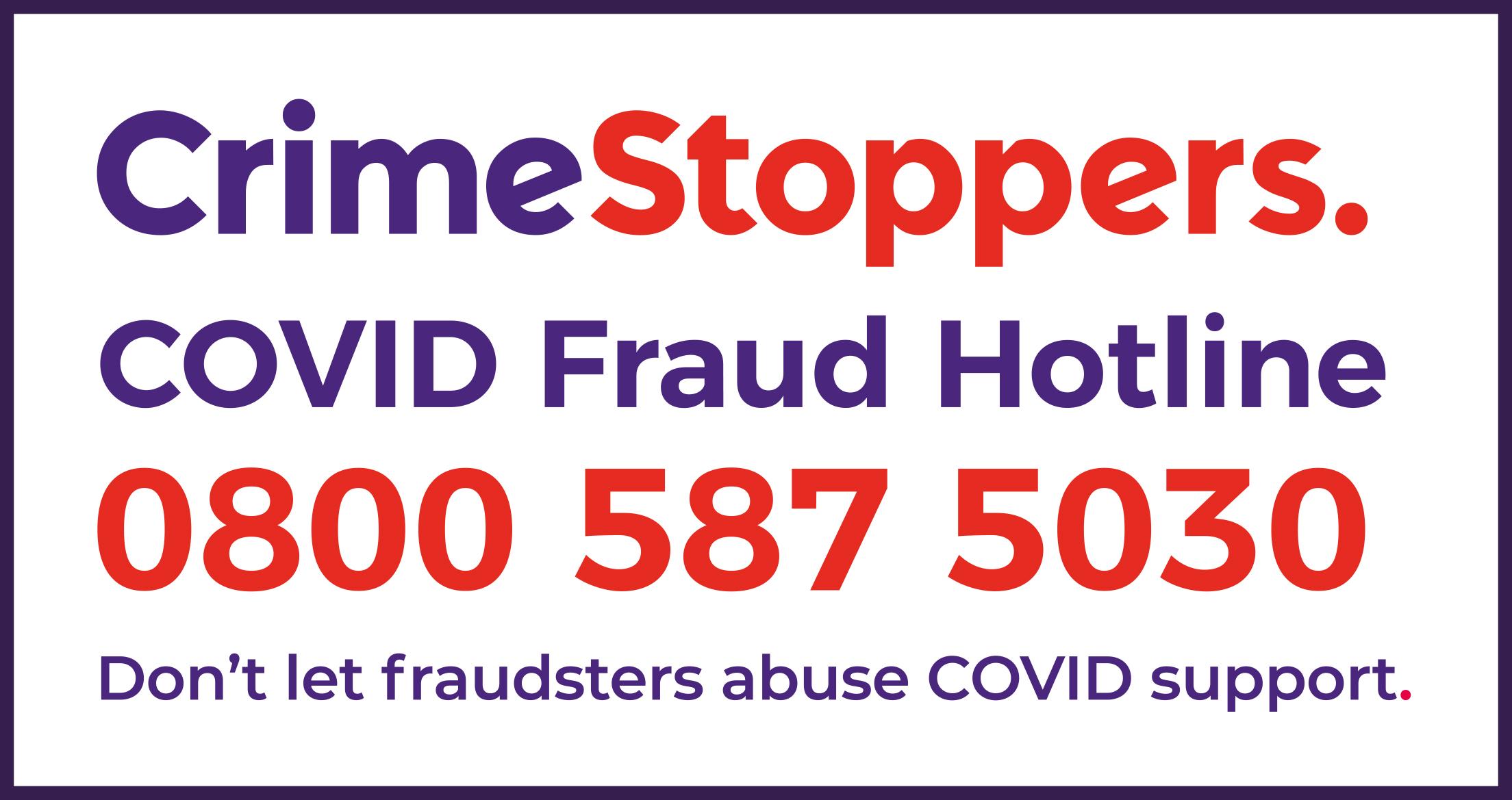Crimestoppers Covid Fraud Hotline